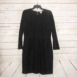 NWT J.Crew Black Lace Dress